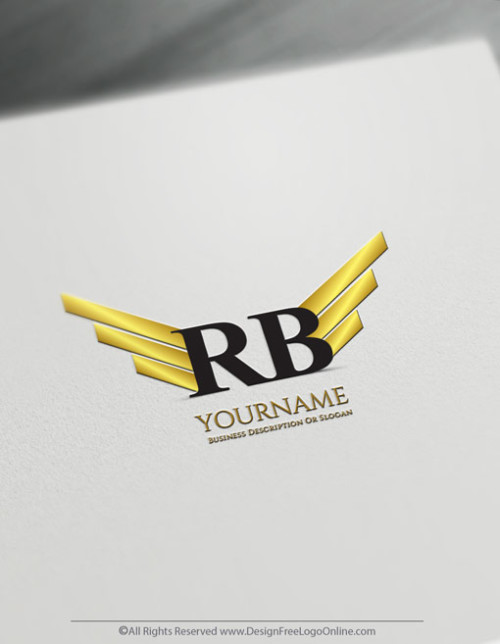 Create a Logo For Free - Design your own Golden Wings Logo Template