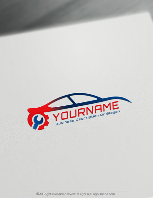 Create auto repair Logo For Free with the car Logo maker