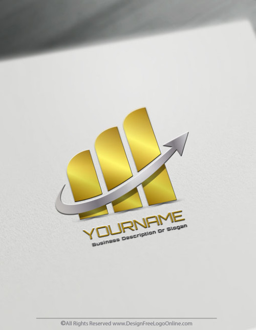 Easily Create a gold Finance Logo For Free with Arrows Logo Templates and the best logo maker