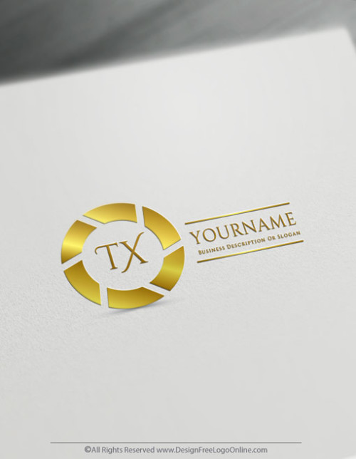 Create a Business Logo For Free with the Gold Focus Logo Template