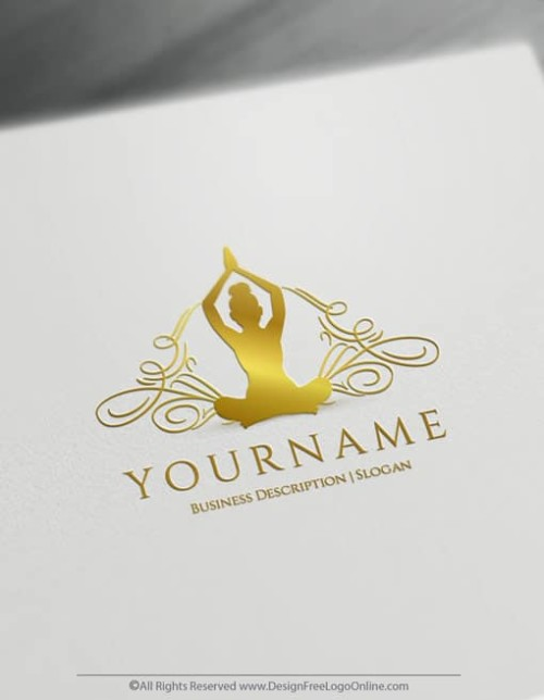 Gold Yoga Logo Maker