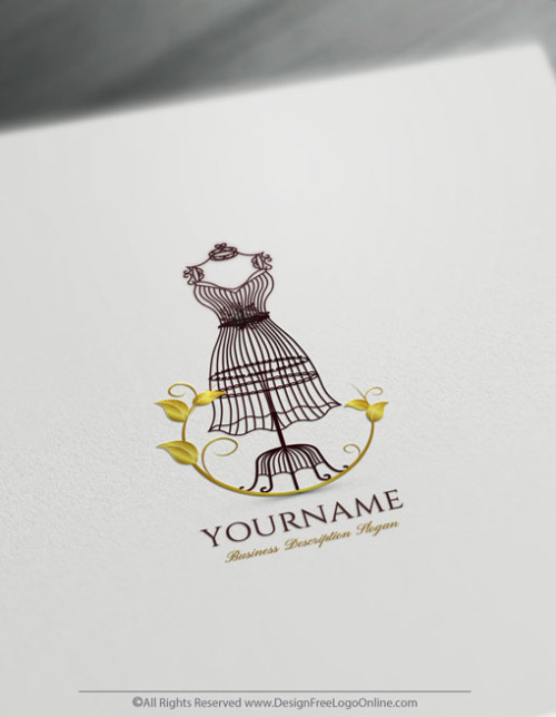 Golden Women's Fashion Logo Templates