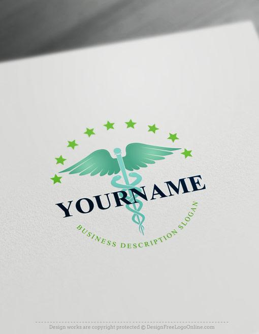 green healthcare branding logos