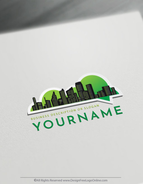 Instantly use the Real Estate Logo Maker for free to customize your own urban city logo design.