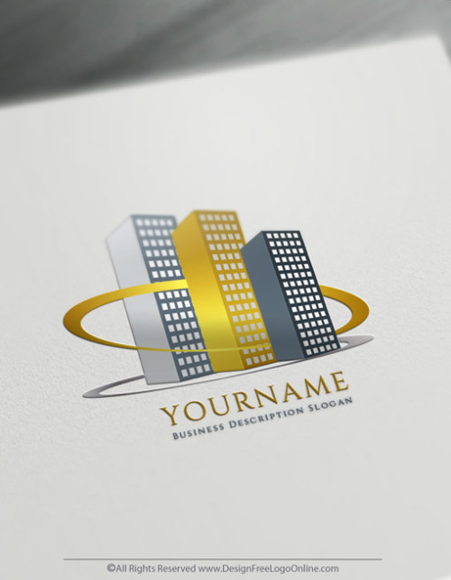 Design your own Modern Real-Estate Logo online. Create as many cool Building Logo Design Ideas as you need - 100% free.