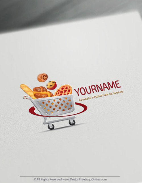 Shopping cart Logo Templates - Bakery icon