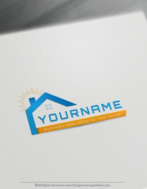Design & Download Your Modern House Realtor Logo Online