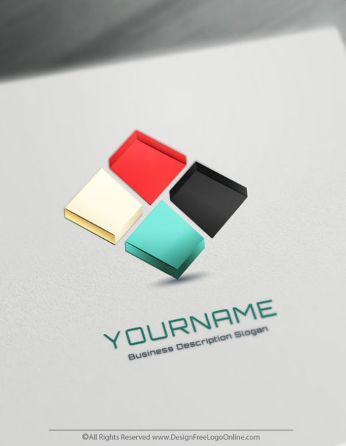 Design your own 3D logo ideas instantly using 3D Cube Logo Templates