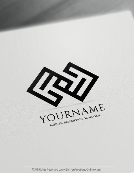 Black minimalistic Logo Templates