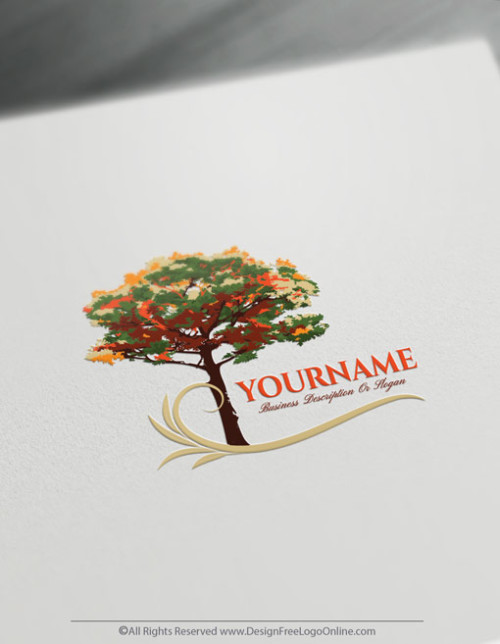 Create a Logo For Free With The Green Tree Logo Templates