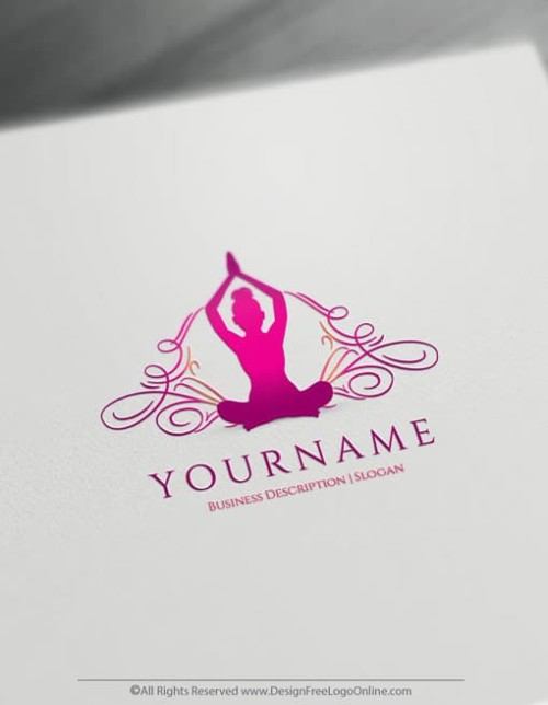 Create a Healthy Logo For Free - Yoga Logo Maker
