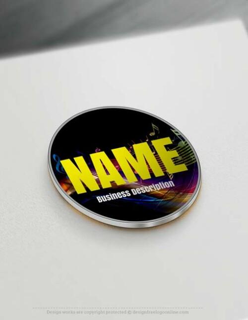 Create a Logo Free - Free logomaker - Music Logo Template