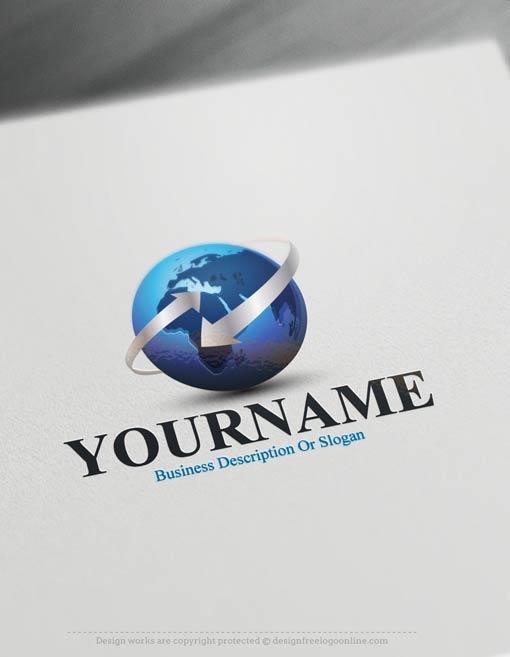 000508-3d-globe-arrow-logo-design-free-logomaker