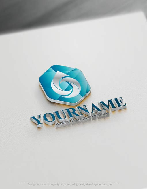Create a Logo Free - Drop Logo Template