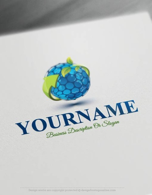 Free Logomaker - Online ECO globe Logo Template