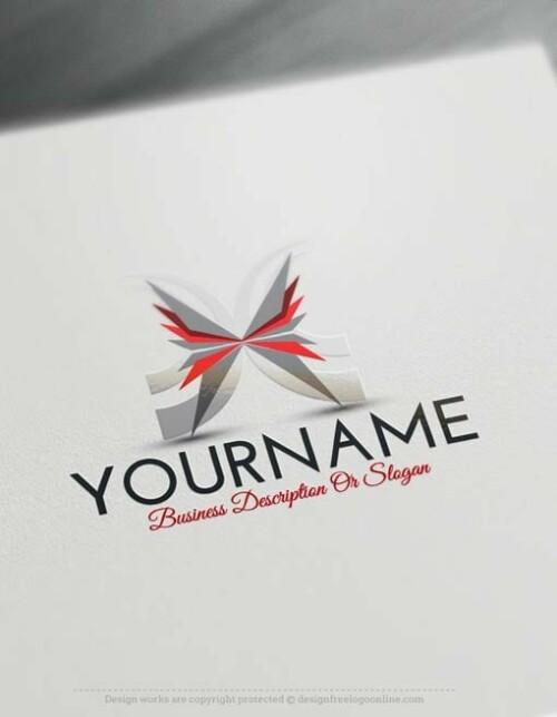 000527-Butterfly-logo-free-logomaker