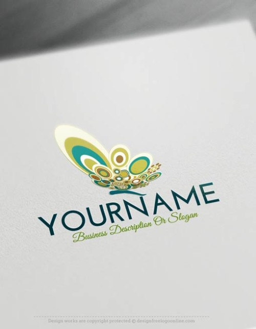 000529--Butterfly-logo-free-logomaker