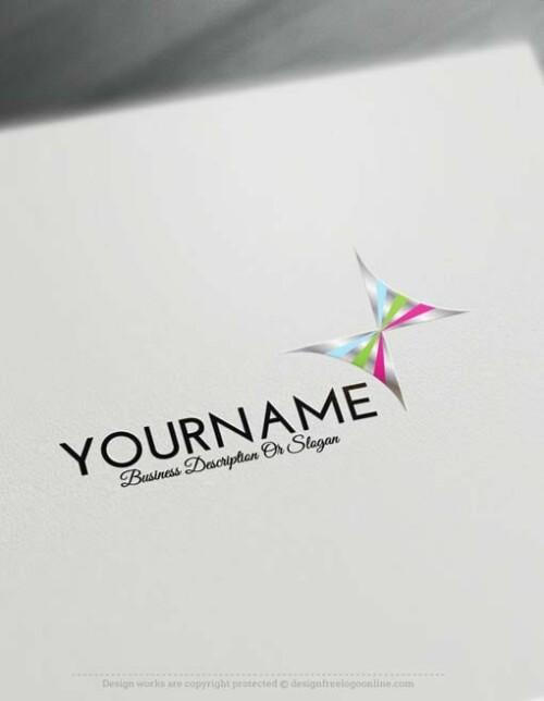 000531--silver-Butterfly-logo-free-logomaker