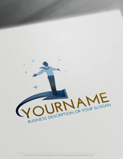 Create a Logo Free with the Businessman Logo Template and the best online logo maker
