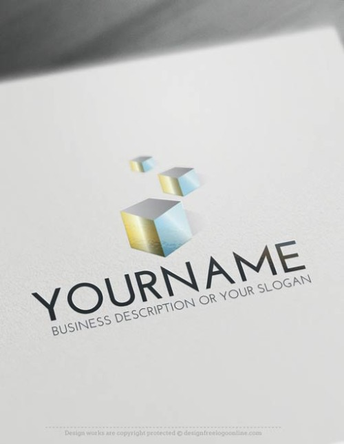 Design 3D Cubes Logo Template Online Ready made Online 3D logo template decorated with 3D Cubes logo icon.