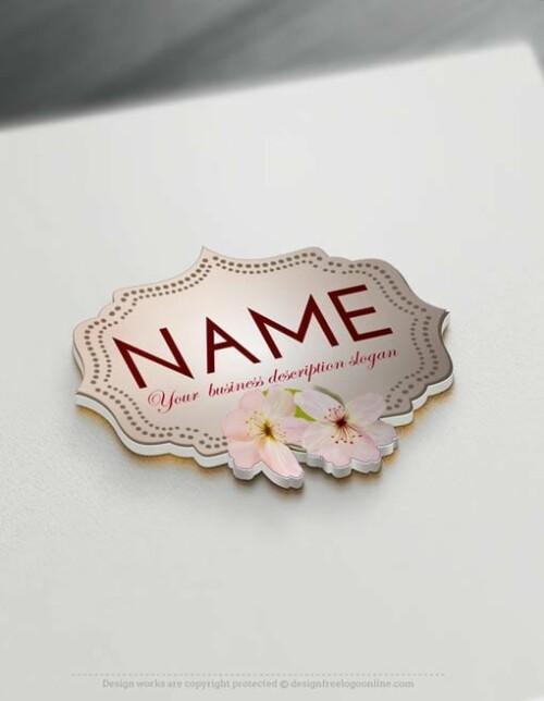 00477-Free-Logo-Maker-flower-frame-Logo-Templates