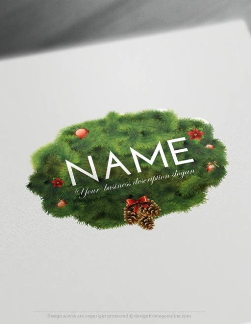 00478-Free-Logo-Maker-Christmas-Logo-Template