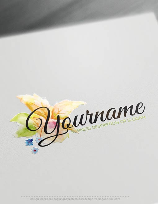 Create Watercolor Flower Logo Template Online With Free Logo Maker