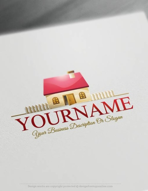 00483-Free-Logo-Maker-House-fence-Logo-Template
