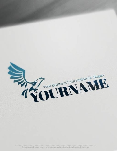 00484-Free-Logo-Maker-eagle-fly-Logo-Template