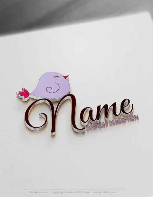 00485-Free-Logo-Maker-bird-Logo-Template