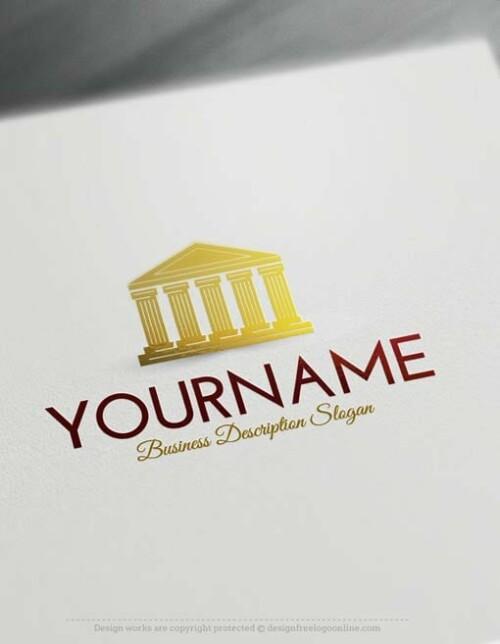 00487-Free-Logo-Maker-Court-law-Logo-Template