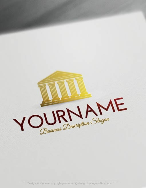 00487-Free-Logo-Maker-Court-law-Logo-Template