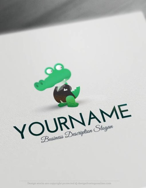 00488-Free-Logo-Maker-Alligator-Logo-Template