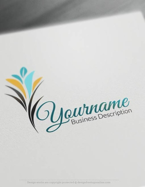 Free logo maker - online flower grow Logo Template