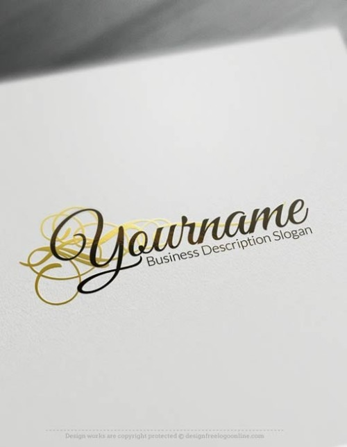 00490-Free-Logo-Maker-flowing-Decoration-Logo-Template