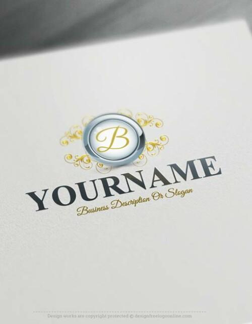 Initials Frame Logo Template