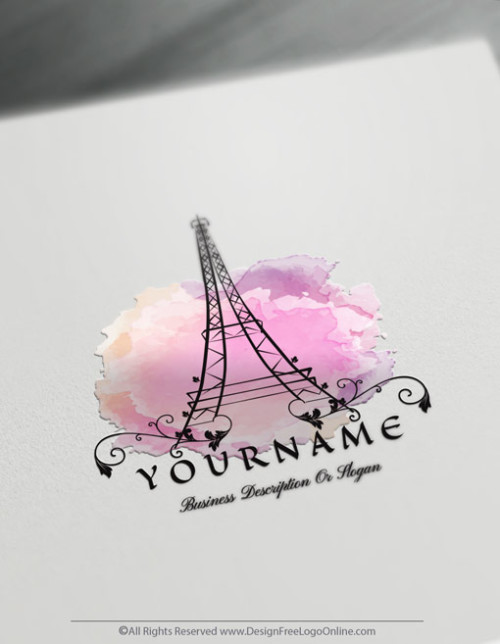 Create Your Own Online Paris Eiffel Tower Logo Design Ideas