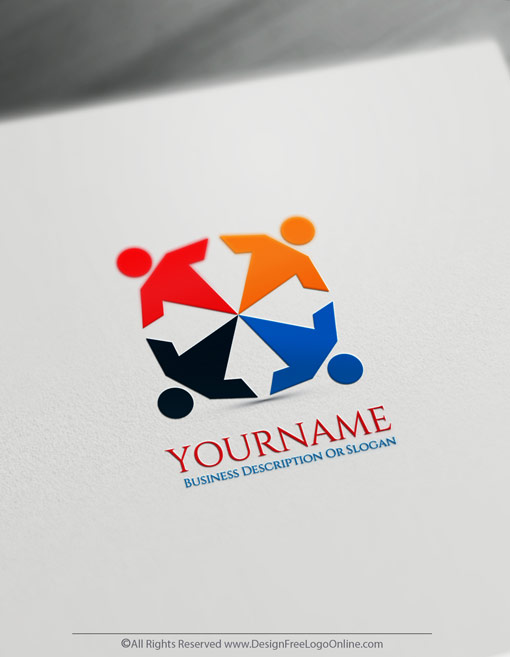 Design A Human Group Logo Template With Free Logo Maker