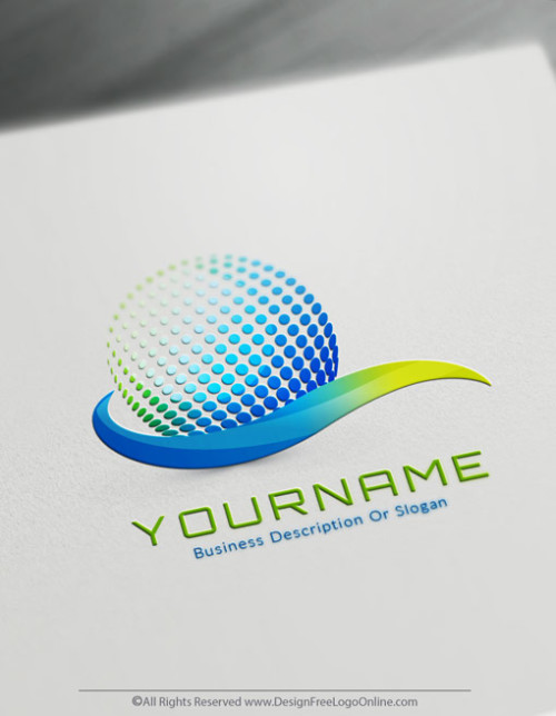 Free 3D Logo Maker - 3D Path Logo Design Template