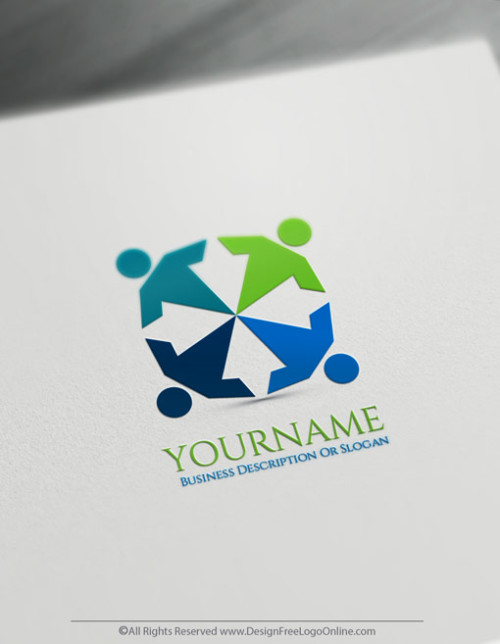 Create Cool Logo Ideas with Human Group Logos