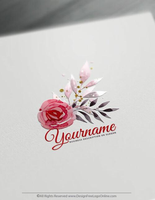 Create Logo Ideas with Watercolor Rose Logo
