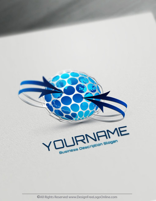 Create Your Own Online 3D Globe Logo Design Ideas