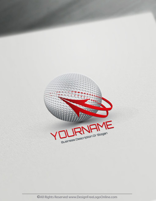 Create a 3D Logo For Free - Online Ball Arrow Logo Template