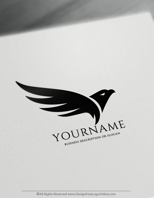 Black Flying Eagle Logo Template
