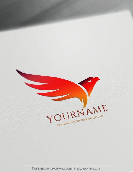 Create an Abstract firebird phoenix logos