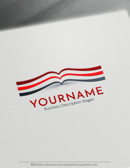 Create a Your Own Book Logo Template instantly. Generate as many Book logo ideas using the Free Education Logo Maker.