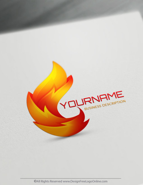 Free 3D Logo Maker - Abstract Flames Logo Design - fire logos