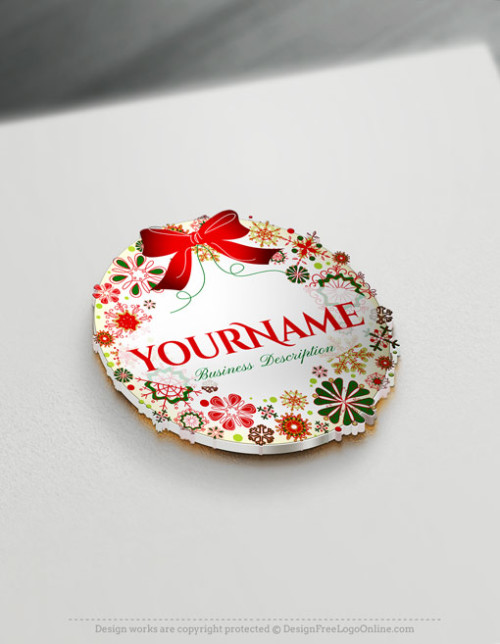 Free Christmas logo maker - Gift Logo Design - Christmas ball ornaments