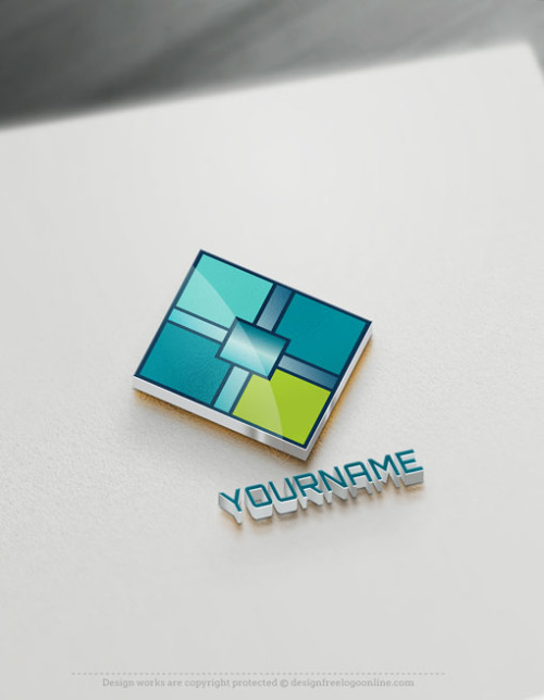 Free Geometric Logo Maker – Cube Logo Template