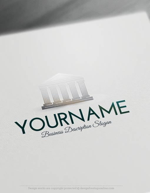 Free-Logo-Maker-Court-law-Logo-Template